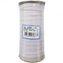 TRECCIA ELASTICA LAVABILE 11 MM 100 METRI COLORE BCO